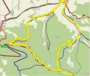 Komorní lhotka - Prašivá - Kotař - Komorní lhotka - 15 km