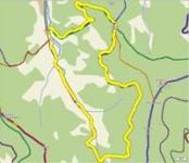 Řeka - Gutské sedlo - vrstevnice - zpět Řeka 12 Km