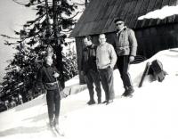 Protagonisté z této fotografie. Tonda Stehlík, Ruda Knop, Jirka Štreit, Bohuš Kozel.