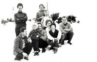 Protagonisté z této fotografie. Ruda Machura, Tonda Stehlík, Jarmila Stehlíková, Pavel Stehlík, Eliška Horáková ml. a Eliška Horáková st., Magda
