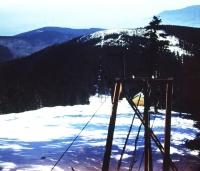 jarní pohled od chaty TJ VP na severní svah na Malchor.