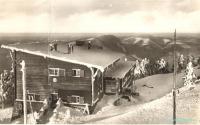 Bezručova chata na Lysé hoře, vyhořelá v roce 1978
